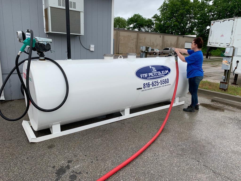 onsite fuel storage tank
